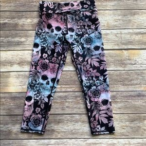 Evolution and Creation Scull Leggings